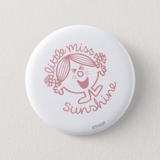 Excitable Little Miss Sunshine 6 Cm Round Badge