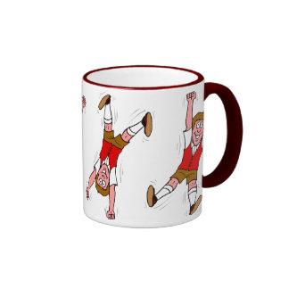 Excited boy ringer mug