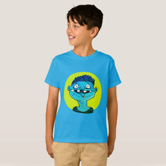 excited boy shows tongue funny cartoon T-Shirt