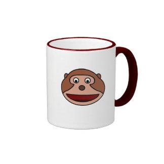 Excited Cartoon Monkey Ringer Coffee Mug