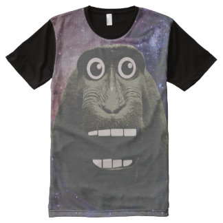 Excited Monkey All-Over Print T-Shirt