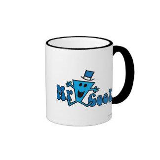 Excited Mr. Cool Jumping For Joy Ringer Mug