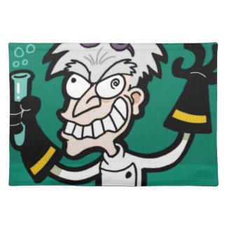 excited scientist placemat