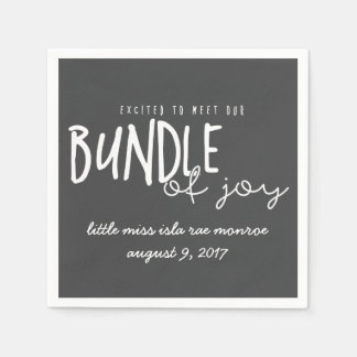 EXCITED TO MEET OUR BUNDLE OF JOY DISPOSABLE NAPKIN
