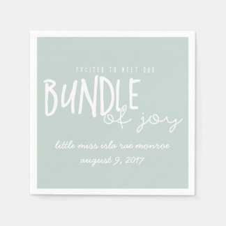 EXCITED TO MEET OUR BUNDLE OF JOY PAPER NAPKINS