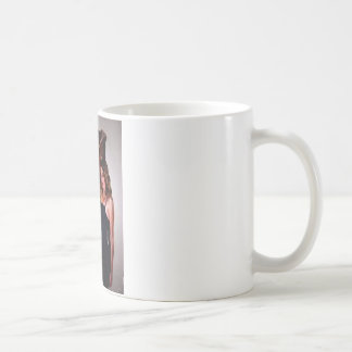 Excited Woman Basic White Mug
