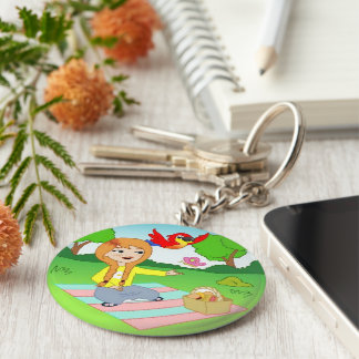 Exciting Fun Kids Key-chain Collection! Basic Round Button Key Ring