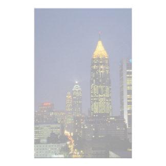 Exciting nightlife, Atlanta, Georgia, U.S.A. Customized Stationery