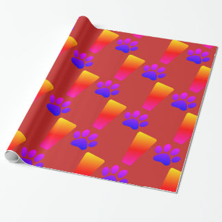 EXCLAMATION CAT PAW! Glossy Wrapping Paper