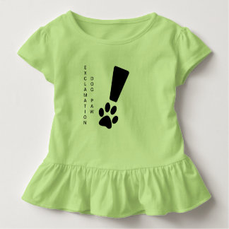 EXCLAMATION DOG PAW! Toddler Ruffle Tee