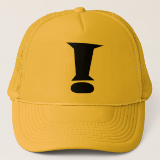 EXCLAMATION HAT! TRUCKER HAT