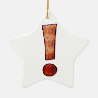 Exclamation mark ceramic ornament