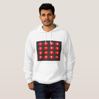 Exclamation Mark Icons Mens Hoodie