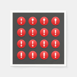 Exclamation Mark Icons Paper Napkins