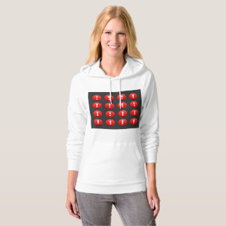Exclamation Mark Icons Womens Hoodie