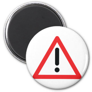 exclamation mark traffic icon magnet
