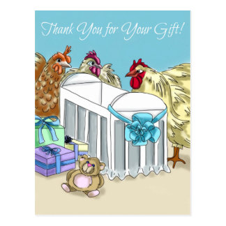 Exclusive Mother Hens Baby Shower 'Thank You' card