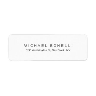 Exclusive Personal Modern Return Address Label