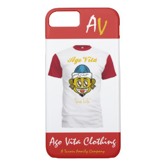 "[Exclusive] Red/White/Gold ""AV"" Phone Case"