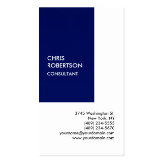 Exclusive Special Blue White Private Unique Pack Of Standard Business Cards