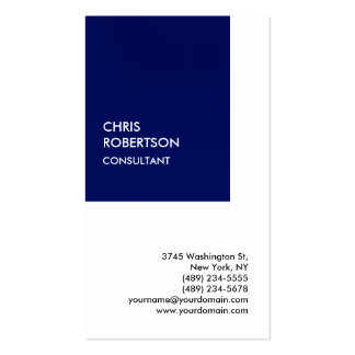 Exclusive Special Dark Blue White Private Unique Pack Of Standard Business Cards