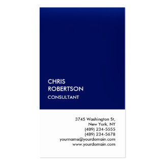 Exclusive Special Dark Blue White Unique Double-Sided Standard Business Cards (Pack Of 100)