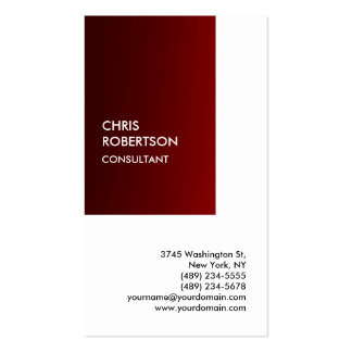 Exclusive Special Dark Red White Private Unique Double-Sided Standard Business Cards (Pack Of 100)