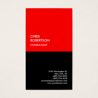 Exclusive Special Red Black Modern Minimalist Business Card