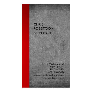 Exclusive Special Red Grey Chalkboard Modern Pack Of Standard Business Cards