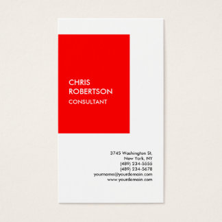 Exclusive Special Red White Modern Unique Business Card