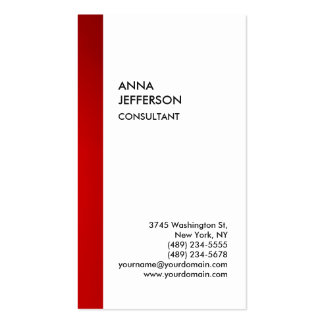 Exclusive Special Red White Unique Modern Pack Of Standard Business Cards