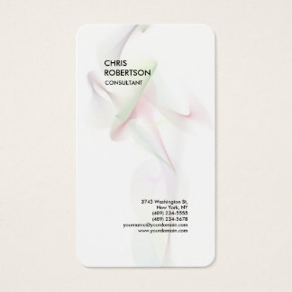 Exclusive Special White Modern Minimalist Abstract Business Card