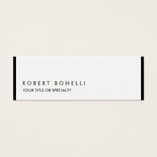 Exclusive Unique Modern Black White Mini Business Card