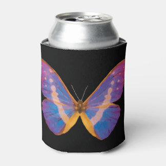 Excotic Butterfly Watercolor Can Cooler