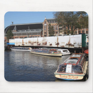 Excursion boats in Amsterdam Mouse Pad