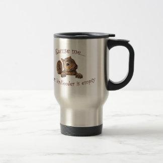 Excuse me...your birdfeeder is empty travel mug
