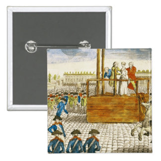 Execution of Marie-Antoinette 15 Cm Square Badge