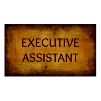 Executive Assistant Antique Brushed Business Card