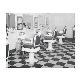 Executive Barber Shop 1935 Canvas Print