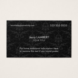 Ceo business cards business card printing zazzle executive black damask business card colourmoves
