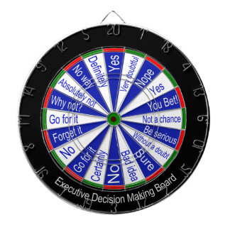 Executive Decision Making Dart Board Traditional