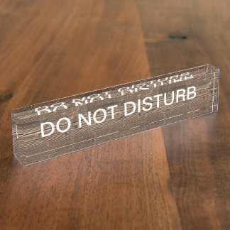 Executive Do Not Disturb Nameplate