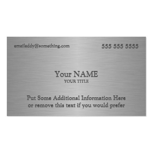 Executive Metallic Texture Print Business Card Template