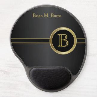 Executive Monogram Design   Classic Black Gel Mouse Pad