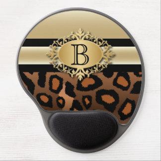 Executive Monogram Design | Jaguar Animal Print Gel Mouse Pad