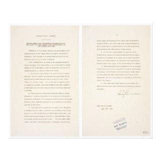 Executive Order 9981 Desegregation of Armed Forces Canvas Print