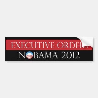 Executive Orders Nobama 2012 Bumper Sticker