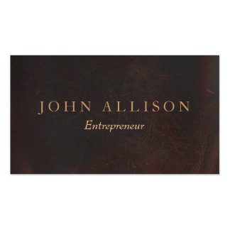 Executive Professional Vintage Brown Leather Pack Of Standard Business Cards