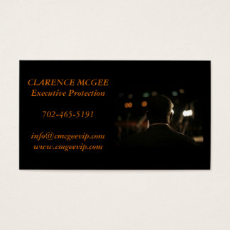 Executive Protection Business Card