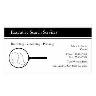 Executive Search Employment Agency Business Cards